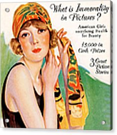 1920s Uk Photoplay Magazine Cover Acrylic Print by The Advertising Archives