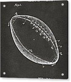 1939 Football Patent Artwork - Gray Acrylic Print