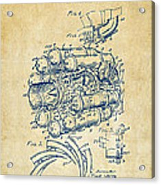 1946 Jet Aircraft Propulsion Patent Artwork - Vintage Acrylic Print