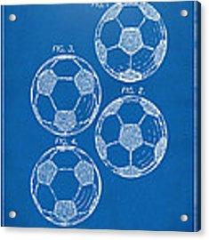 1964 Soccerball Patent Artwork - Blueprint Acrylic Print