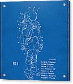 1973 Space Suit Patent Inventors Artwork - Blueprint Acrylic Print