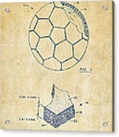 1996 Soccerball Patent Artwork - Vintage Acrylic Print