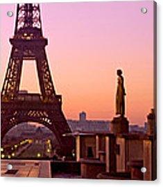 Eiffel Tower At Dawn / Paris Acrylic Print by Barry O Carroll