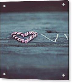 Love Acrylic Print by Aldona Pivoriene