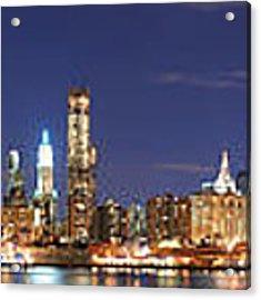 New York City Manhattan Skyline Panorama Acrylic Print by Songquan Deng