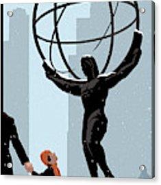 New Yorker December 20th, 2010 Acrylic Print by Christoph Niemann