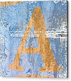 A In Blue Acrylic Print