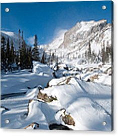 A Winter Morning In The Mountains Acrylic Print by Cascade Colors