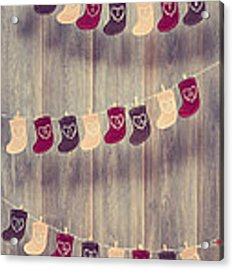 Advent Calendar Acrylic Print by Amanda Elwell