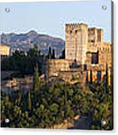 Alhambra Palace - Panorama Acrylic Print by Nathan Rupert
