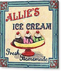 Allie's Ice Cream Acrylic Print by Debbie DeWitt