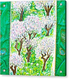 Almond Trees And Leaves Acrylic Print by Augusta Stylianou