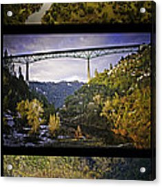 American River Triptych Acrylic Print by Sherri Meyer