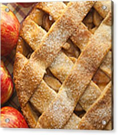 Apple Pie With Lattice Crust Acrylic Print by Diane Diederich