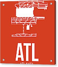 Atl Atlanta Airport Poster 3 Acrylic Print