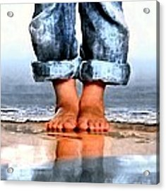 Barefoot Boy   Acrylic Print by Dale   Ford