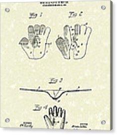 Baseball Glove 1907 Patent Art Acrylic Print