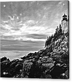Bass Harbor Lighthouse At Dusk Acrylic Print by Diane Diederich