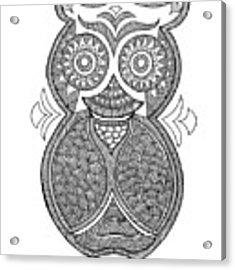 Bird Owl 1 Acrylic Print by MGL Meiklejohn Graphics Licensing