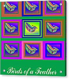 Birds Of A Feather 2 Acrylic Print by Stephen Coenen