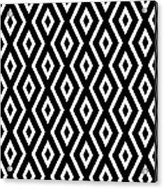 Black And White Pattern Acrylic Print