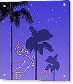 California Christmas Palm Trees Acrylic Print by Mary Helmreich