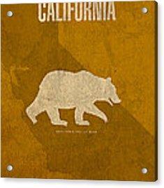 California State Facts Minimalist Movie Poster Art  Acrylic Print