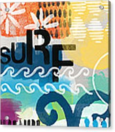 Carousel #7 Surf - Contemporary Abstract Art Acrylic Print by Linda Woods