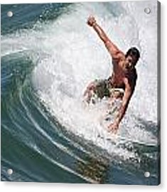 Catching The Perfect Wave Acrylic Print by Nathan Rupert