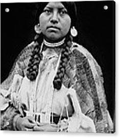 Cayuse Woman Circa 1910 Acrylic Print by Aged Pixel
