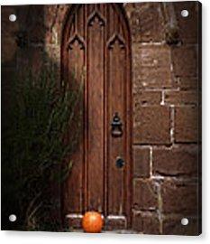 Church Door At Halloween Acrylic Print
