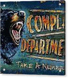 Complaint Department Acrylic Print
