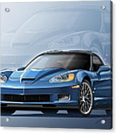 Corvette Zr1 Illustration Acrylic Print