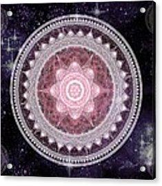 Cosmic Medallions Fire Acrylic Print by Shawn Dall