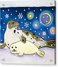 Cosmic Seals Acrylic Print by Cathy Baxter