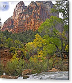 Court Of The Patriarchs Zion Np Utah Acrylic Print by Tim Fitzharris