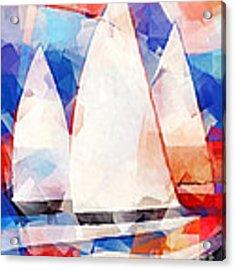 Cubic Sails Acrylic Print by Lutz Baar