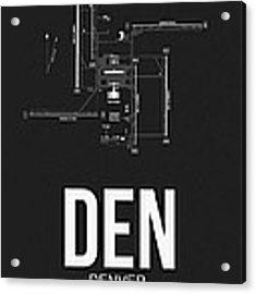 Denver Airport Poster 1 Acrylic Print by Naxart Studio