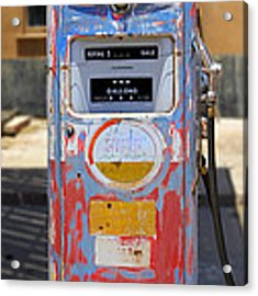 Desert Mountain Super Gasoline - Bennett Gas Pump Acrylic Print