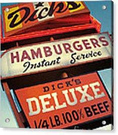 Dick's Hamburgers Acrylic Print by Jim Zahniser