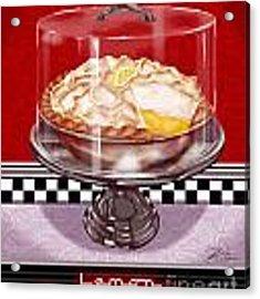 Diner Desserts - Lemon Meringue Pie Acrylic Print