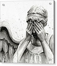 Doctor Who Weeping Angel Don't Blink Acrylic Print