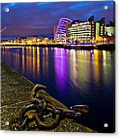 Dublin Docklands At Night / Dublin Acrylic Print by Barry O Carroll