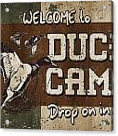 Duck Camp Acrylic Print by JQ Licensing