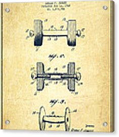 Dumbbell Patent Drawing From 1927 - Vintage Acrylic Print by Aged Pixel