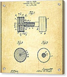 Dumbbell Patent Drawing From 1935 -vintage Acrylic Print by Aged Pixel