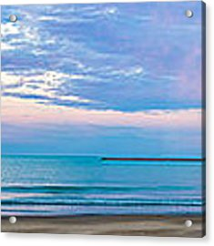 End Of The Blue Hour Acrylic Print by Steven Santamour