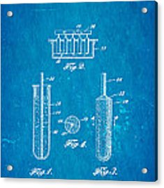 Epperson Popsicle Patent Art 1924 Blueprint Acrylic Print by Ian Monk