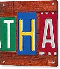 Ethan License Plate Name Sign Fun Kid Room Decor. Acrylic Print