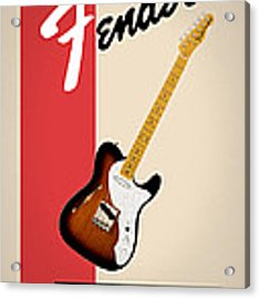 Fender All Things Rock N Roll Acrylic Print by Mark Rogan